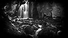 Lumsdale Falls B&W by riotphoto