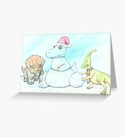 Snowasaurus Rex Greeting Card
