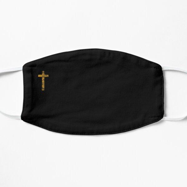 Christian Cross Gold Religious Print. Gift For Christian. Catholic Gift.  Mask
