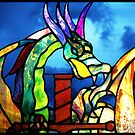 Stained Glass Dragon by Ellen Cotton