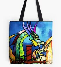 Stained Glass Dragon Tote Bag