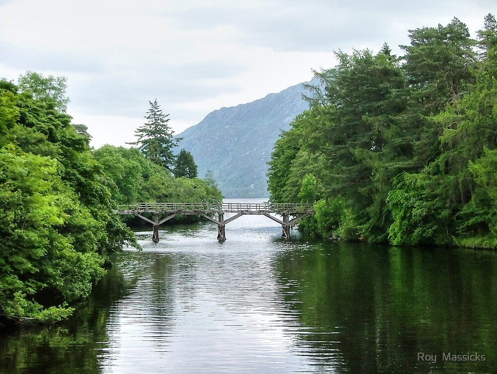 The bridge at Fort Augustus - Loch Ness, Scotland.......! by Roy  Massicks