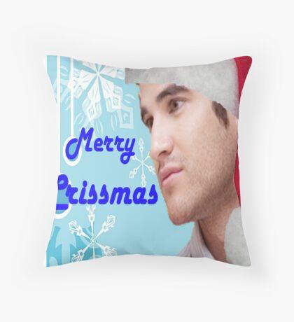 Darren Crissmas card Throw Pillow