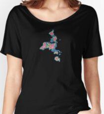 Map Art Women's Relaxed Fit T-Shirt