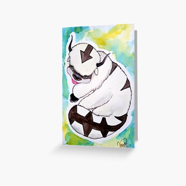 watercolor Appa Greeting Card