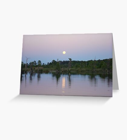 MOONRISE ON BEAR CREEK Greeting Card