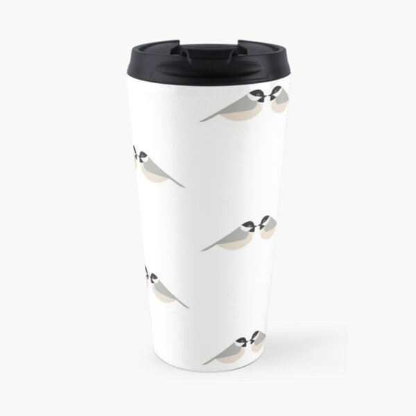 Minimalist Chickadee Pair Travel Mug