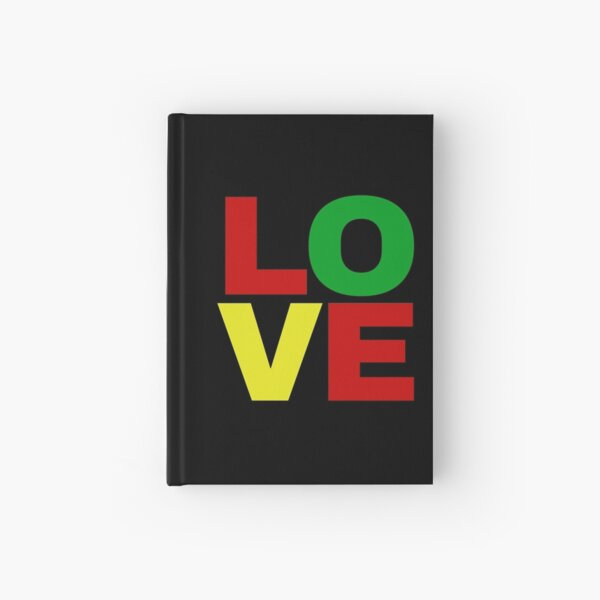 Love in red, green, yellow Hardcover Journal
