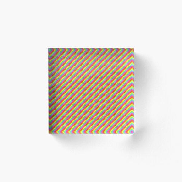 Rainbow Pixels Acrylic Block