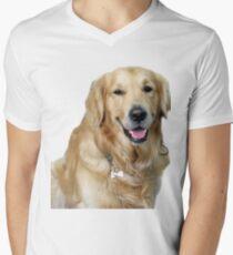 Cute Golden retriever Men's V-Neck T-Shirt