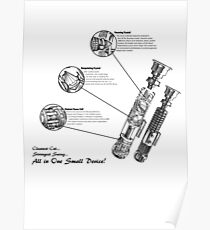 Star Wars Lightsaber Schematics Poster