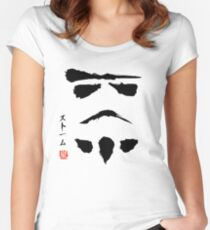 Star Wars Droid Minimalistic Painting Women's Fitted Scoop T-Shirt