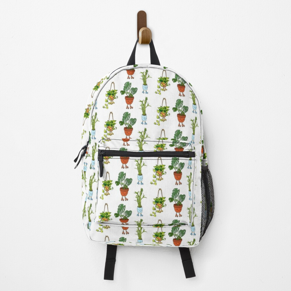 Roller Skating Potted House Plants Backpack