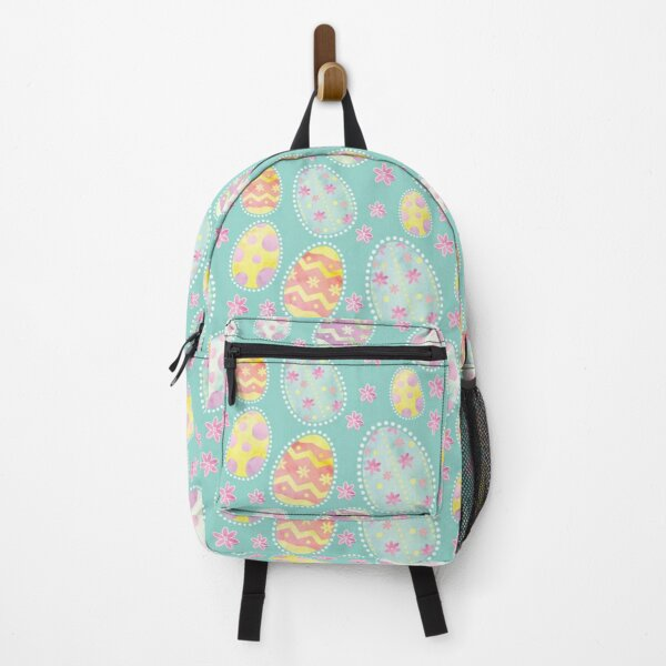 Pastel Watercolour Painted Easter Egg Pattern Backpack