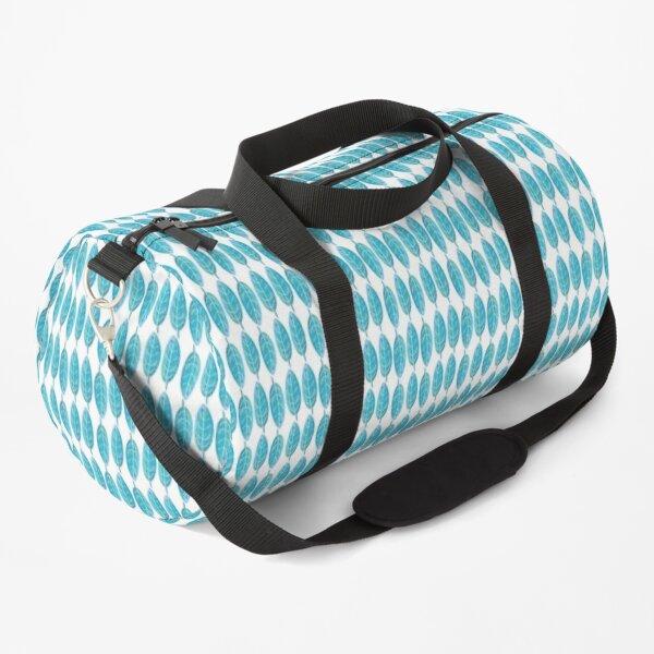 Blue Watercolor Leaf Duffle Bag