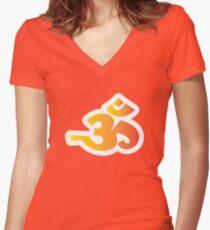 Om / Aum - Sanskrit Hindu Symbol - Y2R Women's Fitted V-Neck T-Shirt