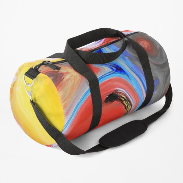 Paint Pour Flower Duffle Bag