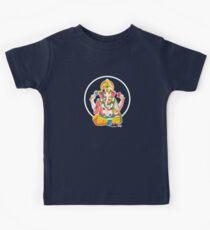 Lord Ganesh - Hindu God - Geometric Avatar Kids Tee