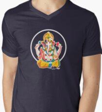 Lord Ganesh - Hindu God - Geometric Avatar Men's V-Neck T-Shirt