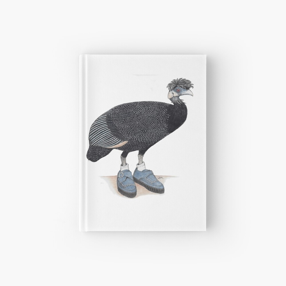 Guineafowl in rockabilly shoes Hardcover Journal