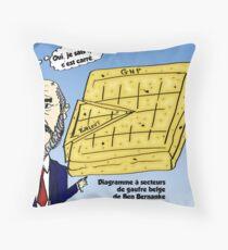 Ben Bernanke et le gaufre belge Throw Pillow