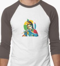 Lord Krishna - Hindu God - Geometric Avatar Men's Baseball ¾ T-Shirt
