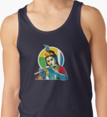 Lord Krishna - Hindu God - Geometric Avatar Tank Top
