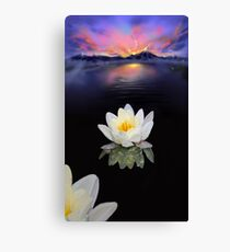 Lotus at Dawn Canvas Print