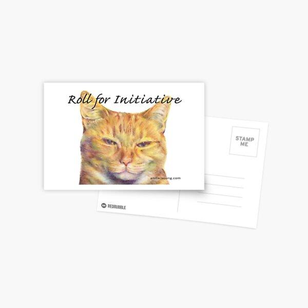 Initiative Cat Postcard
