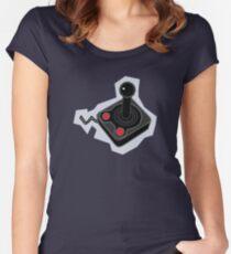 Retro Joystick Women's Fitted Scoop T-Shirt
