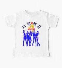 ㋡♥♫SaRangHaeYo(Love) Hot Fabulous K-Pop Girl Group-4Minute Clothing & Stickers♪♥㋡ Baby Tee