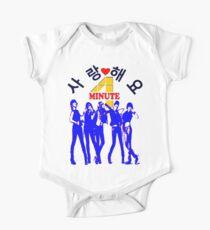 ㋡♥♫SaRangHaeYo(Love) Hot Fabulous K-Pop Girl Group-4Minute Clothing & Stickers♪♥㋡ One Piece - Short Sleeve