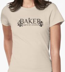 Baker sugar and fat consultant funny baking t-shirt Womens Fitted T-Shirt