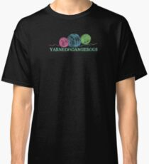 Crayon balls of yarn funny knitting crochet t-shirt Classic T-Shirt
