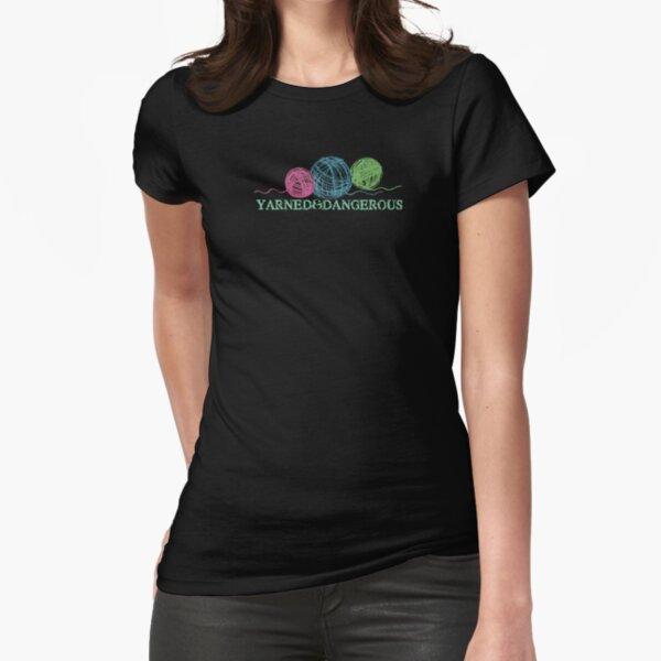 Crayon balls of yarn funny knitting crochet t-shirt Fitted T-Shirt