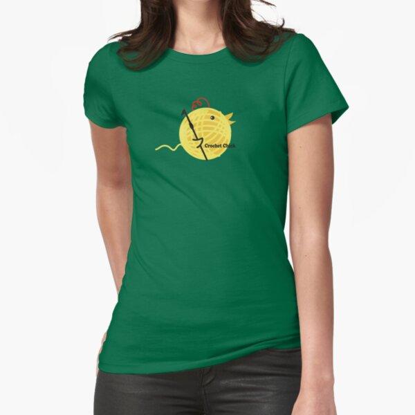 Crochet chick crochet hook ball of yarn funny t-shirt Fitted T-Shirt