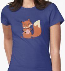Cute fox knitting needles fluffy yarn t-shirt T-Shirt