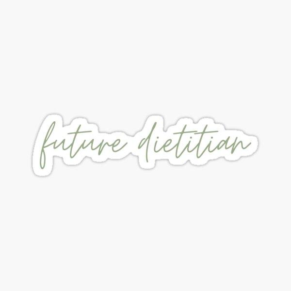 Futuro dietista Pegatina