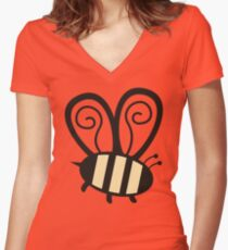 Giant cute bumble bee insect t-shirt Women's Fitted V-Neck T-Shirt