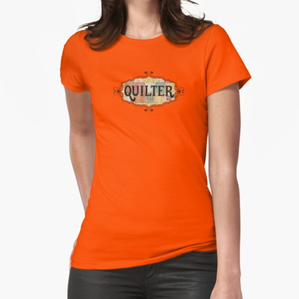 Grunge fabric swatches quilter quilting Fitted T-Shirt