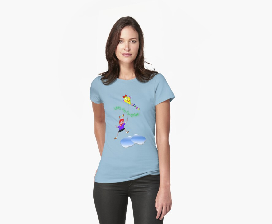 Lets Go Fly a Kite T-shirt by Dennis Melling