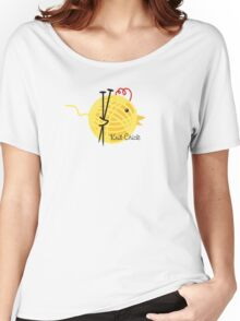 knitting needles knit chick ball of yarn Women's Relaxed Fit T-Shirt