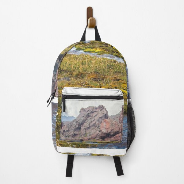 River is beautiful in nature Backpack