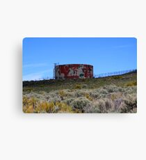 Let's meet at the water tower,Cold Springs,Reno Nevada USA Canvas Print