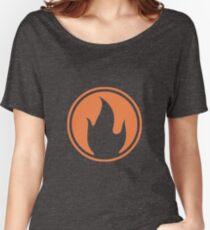 TF2 Black Pyro Emblem Women's Relaxed Fit T-Shirt