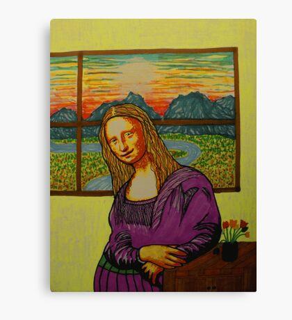Expectant Mona Lisa Canvas Print