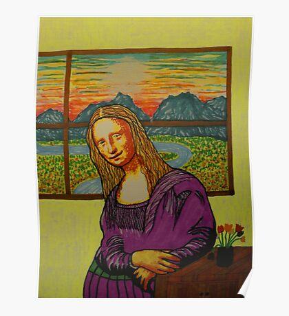 Expectant Mona Lisa Poster