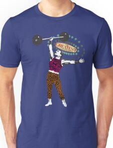 Vintage circus strong man gay man animal print tights Unisex T-Shirt
