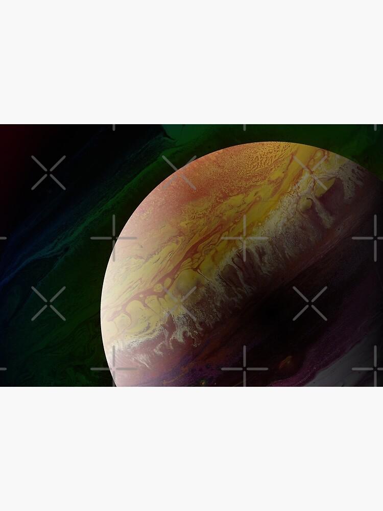 Axial Tilt: planet art by kerravonsen