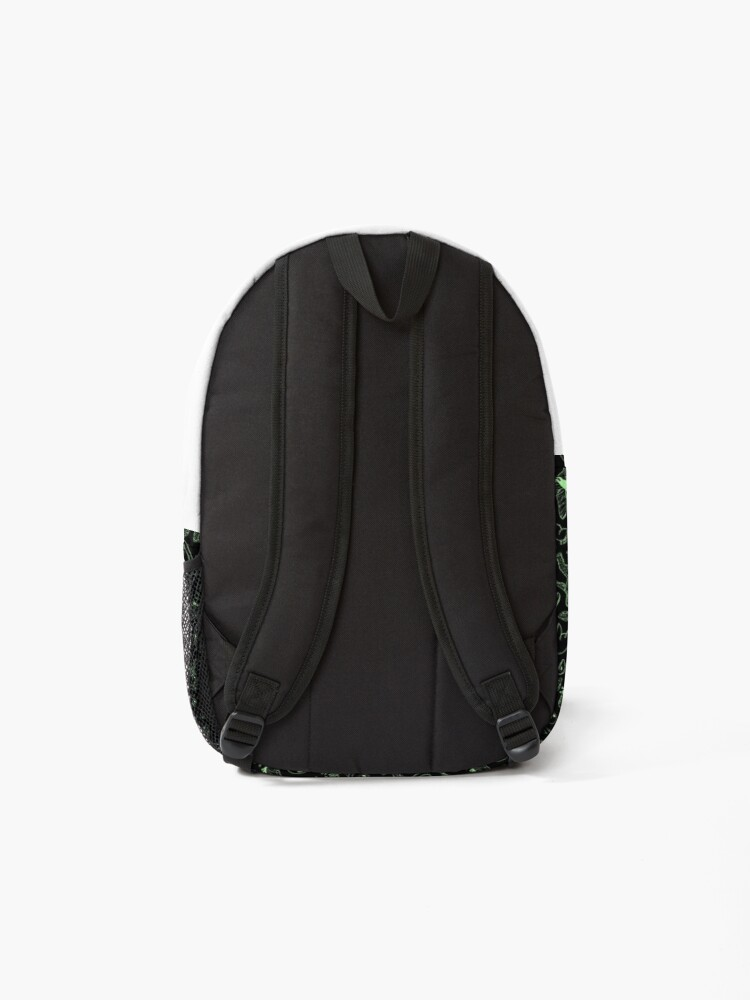 Alternate view of Cryptid Pattern (Green Lines) Backpack